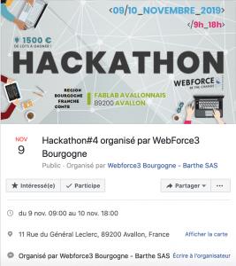 image évènement facebook hackathon bourgogne webforce3