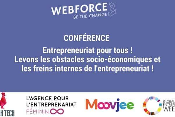 WebForce3 organise une table-ronde sur l'entrepreneuriat inclusif, dans le cadre de la Semaine Mondiale de l'Entrepreneuriat 2019