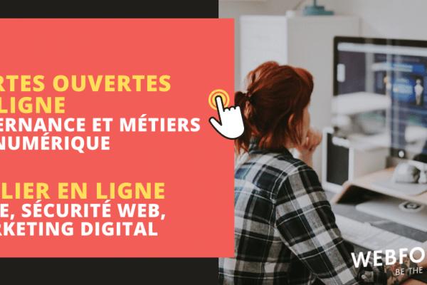 Journée Portes Ouvertes en ligne : Alternance et Atelier pour découvrir les métiers du numérique