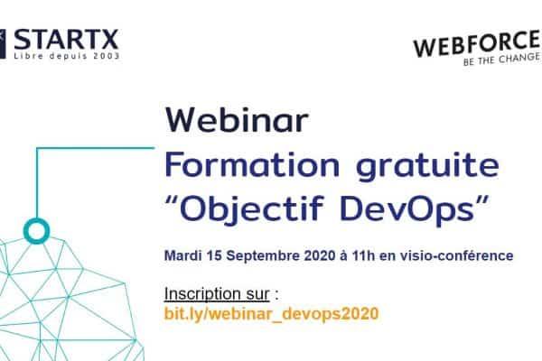 Formation et recrutement DevOps ! Participez à notre prochain webinar. Avec Paris Code, StartX et WebForce3