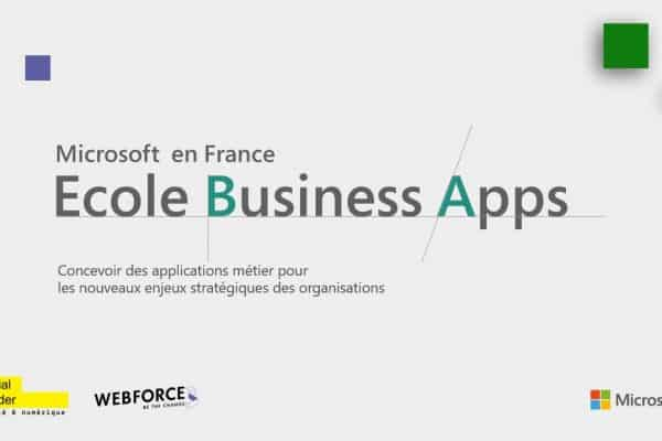 Ecole Business Apps : un projet inclusif et partenarial de Microsoft France, Social Builder et WebForce3