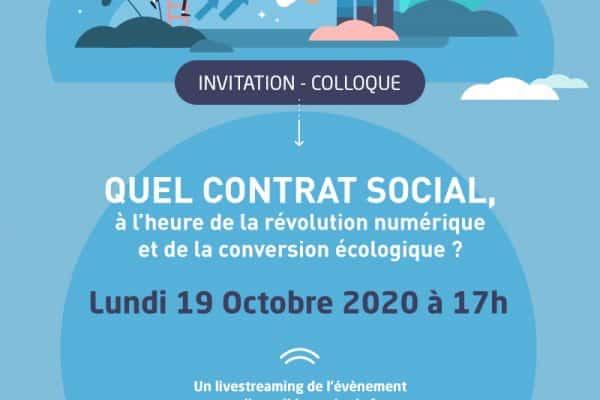 Colloque : Quel Contrat Social à l'heure de la révolution numérique et de la conversion écologique ?