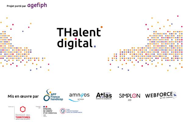 WebForce3 est partenaire du projet THalent Digital de l'Agefiph pour former et accompagner vers l'emploi 300 personnes en situation de handicap