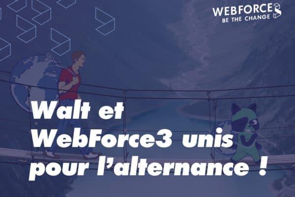 WebForce3 signe la charte WALT pour améliorer le parcours des alternants