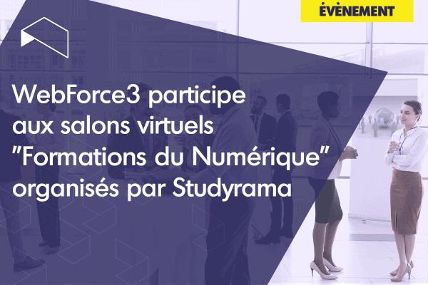 WebForce3 participe aux salons virtuels